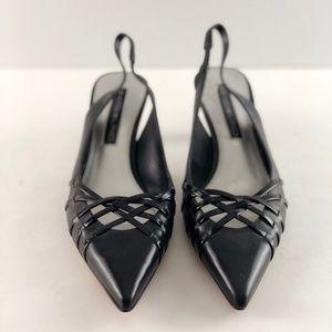 Bandolino Women's Black Slingback Heels Shoes